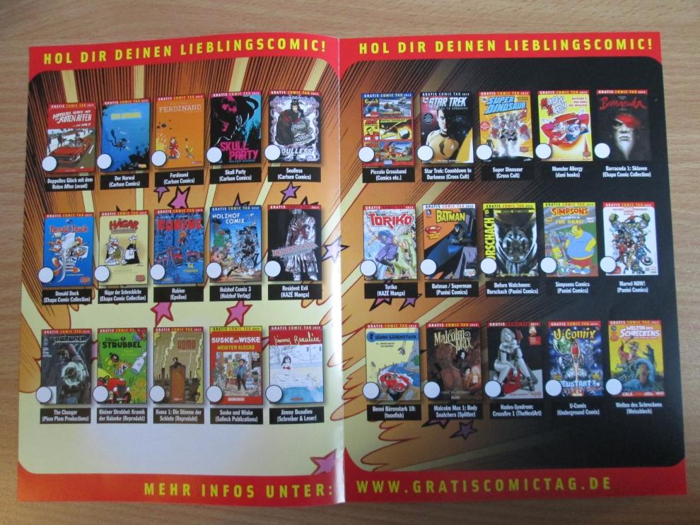 Comic Vom Gratis Comic Tag 2013 deutsch Welt des Schreckens