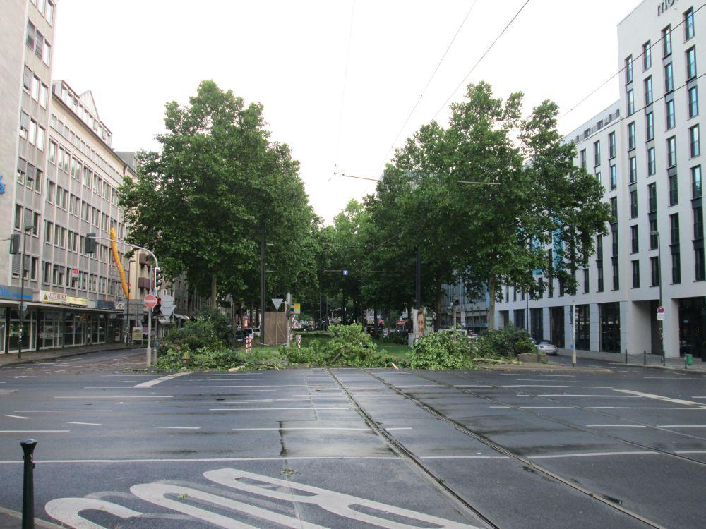 Durch die Immermannstraße konnte keine Straßenbahn mehr fahren.
