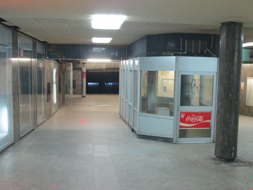 Der Kiosk im Döppersbergtunnel.
