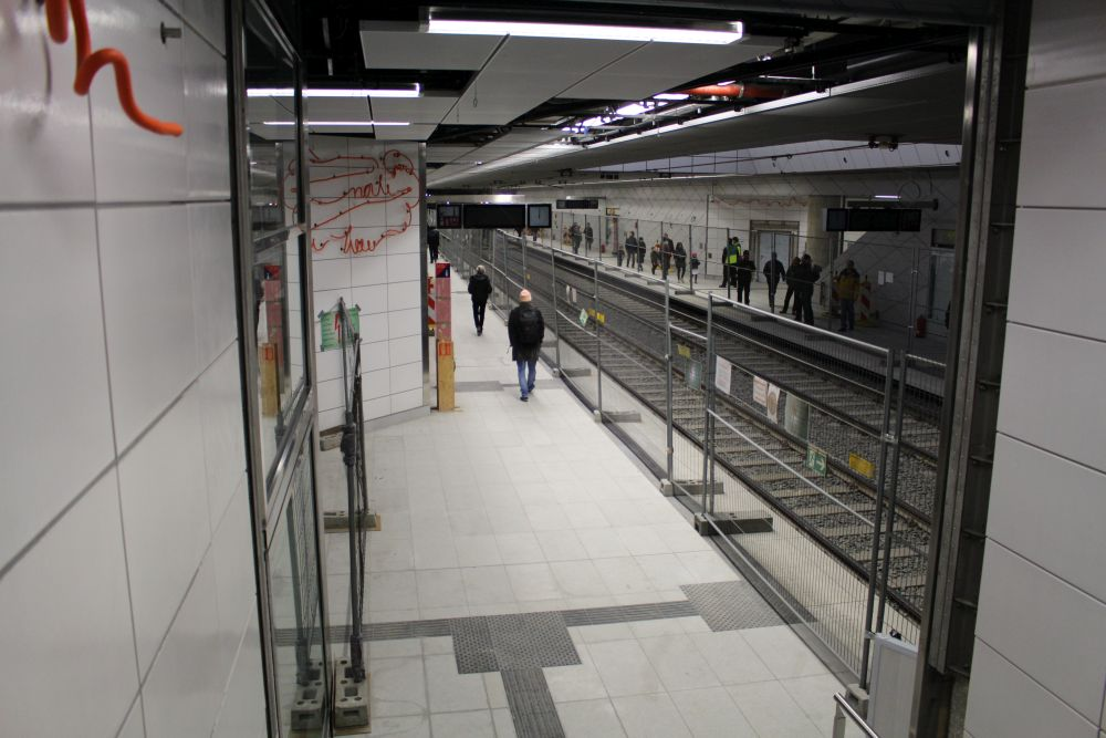 Blick in die U-Bahnstation Kirchplatz.
