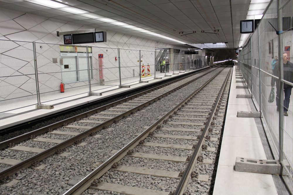 Blick über die Gleise.