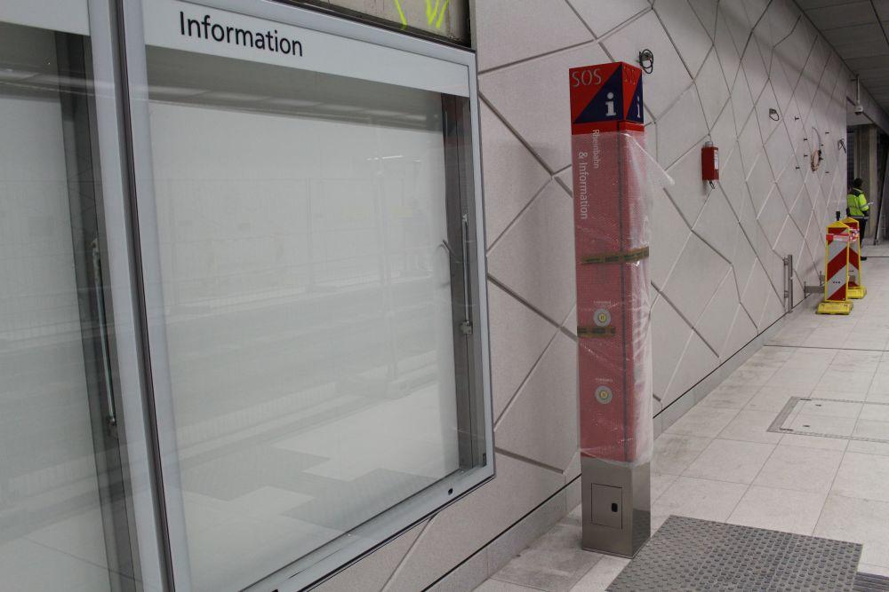 Auch die Notruf-Säulen waren nicht aktiv, dafür standen alle paar Meter Sicherheitsleute, die im Notfall helfen könnten.